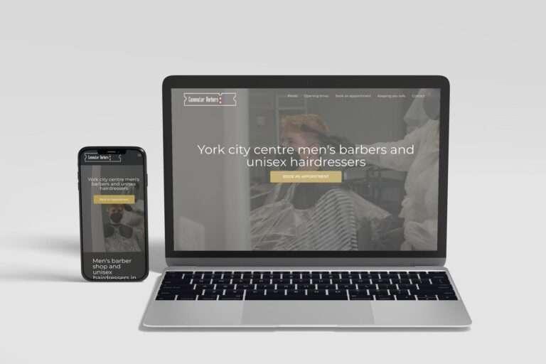 Commuter Barbers Website milnerCreative