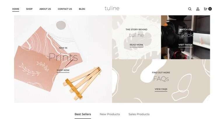 tuline website milnerCreative
